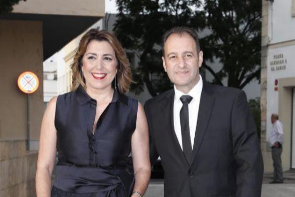 Susana Díaz y su marido, José María Moriche, en una imagen de...