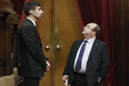 Miquel Iceta, el pasado noviembre, durante una sesión de control al...