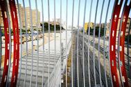 Zona de las vías por donde pasa el AVE y se ejecutarán los proyectos complementarios de Avant, en imagen de archivo.