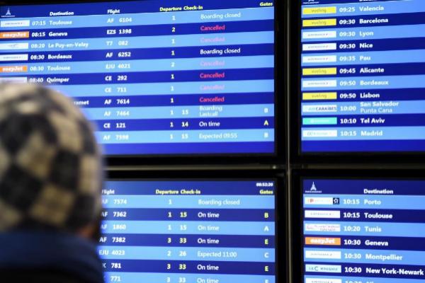 Vuelos cancelados por la huelga en el aeropuerto de Par