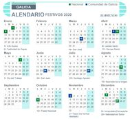Calendario laboral de Galicia 2020