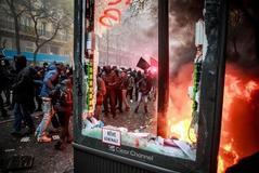 700.000 manifestantes y medio centenar de detenidos en el 'jueves negro' contra la reforma de las pensiones