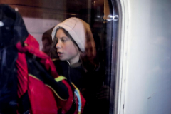 Greta Thunberg ya viaja en tren  desde Lisboa para ir a la marcha por el Clima  de  Madrid
