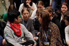 Greta Thunberg se une a la sentada de los Jóvenes por el Clima en Madrid