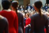 La presidenta de la Comunidad de Madrid, Isabel Díaz Ayuso, en el acto de celebración del Día de la Constitución.