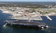 Imagen aérea de la base de Pensacola, donde ocurrieron los hechos.