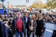 Fernando Savater, Arcadi Espada, Rosa Díez y Cayetana Álvarez de Toledo, en el acto celebrado este viernes en Bilbao.
