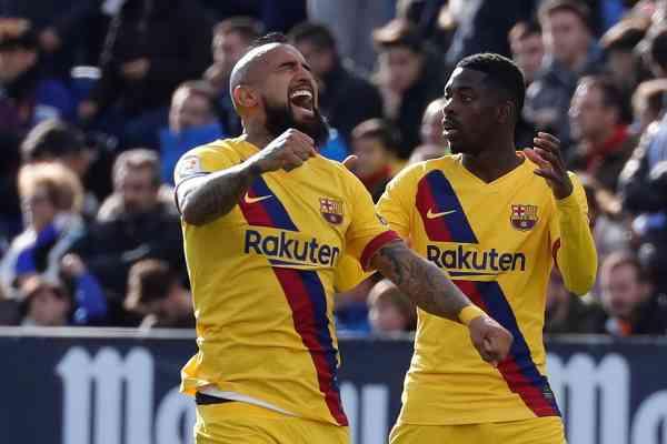 GRAF5185. LEGANÉS (MADRID).- El centrocampista chileno del Barcelona...