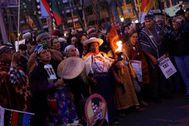La manifestación por el clima recorrió ayer la capital.
