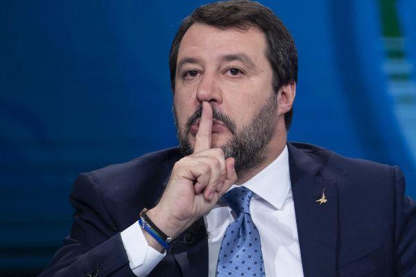 Rome (Italy).- Italian Lega party's Secretary, Matteo...