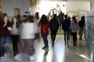 Alumnos del instituto público de Ames, a 11 kilómetros de Santiago, donde tienen una asignatura propia de fomento de la igualdad de género.
