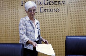 La fiscal general del Estado, María José Segarra, en una comparecencia pública el pasado octubre.