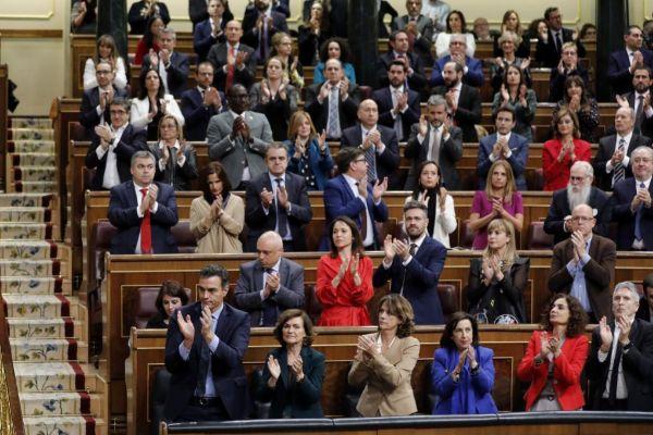 Sesión constitutiva de las Cortes.