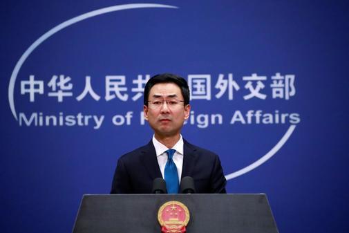 El portavoz del Ministerio de Asuntos Exteriores de China, Geng...