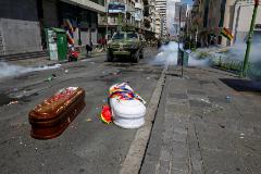 El triste ataúd blanco de Antonio Quispe que fue abandonado en la calle