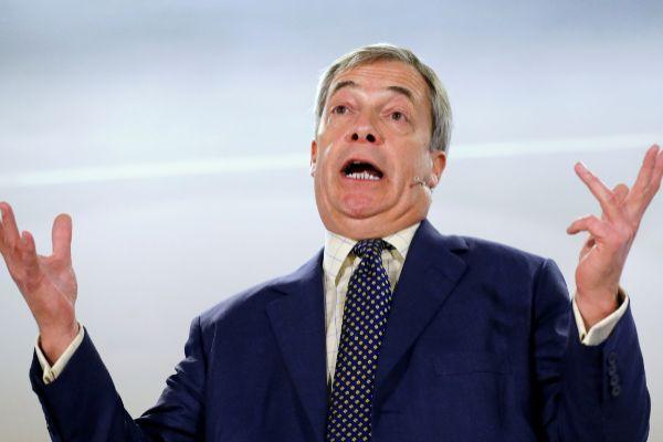 Brexit Party leader Nigel <HIT>Farage</HIT> visits Buckley