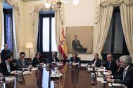 Primera reunión de la Mesa del Congreso celebrada el pasado miércoles