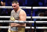 Andy Ruiz, durante el combate contra Joshua.