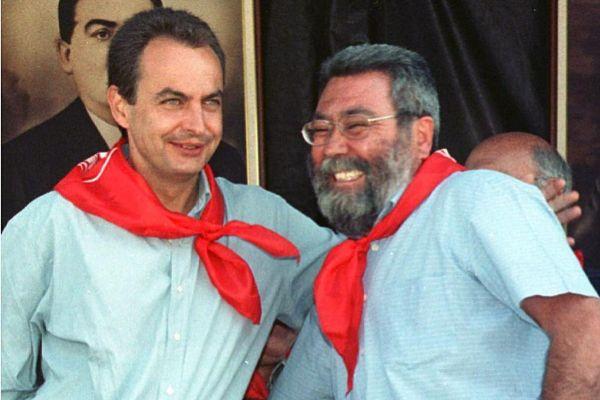 José Luis Rodríguez Zapatero y Cándido Méndez, juntos en Rodiezmo...