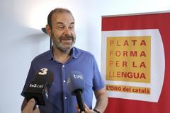 El presidente de la Plataforma per la Llengua, Òscar Escuder.