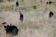 La Guardia Civil, mientras peinaba los alrededores de Manuel en busca de Marta Calvo la pasada semana.
