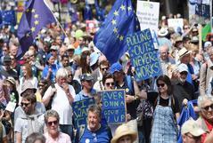 Marcha de People?s Vote a favor de un segundo referendum en Londres.