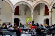 Una de las actividades desarrolladas en el patio del Palacio de Villardompardo de Jaén.