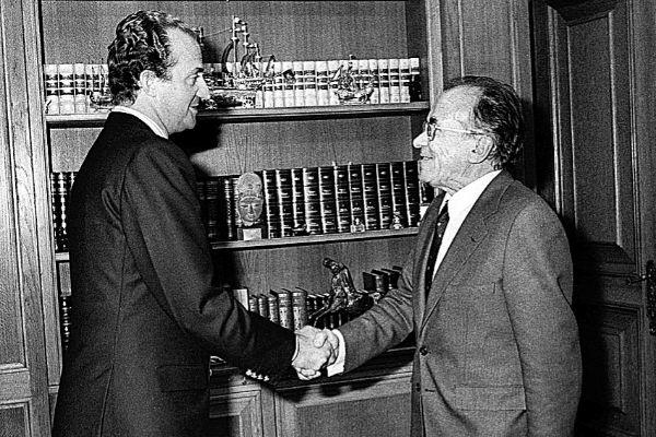 El Rey Juan Carlos recibe en audiencia en La Zarzuela a Carrillo en...