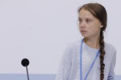 Greta Thunberg, durante su intervención en la Cumbre del Clima de Madrid.