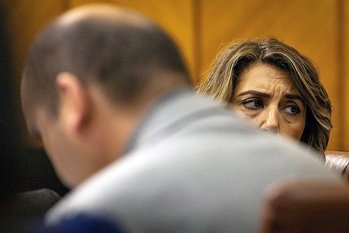 Susana Díaz, en una sesión en el Parlamento de Andalucía el pasado...