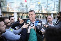 El ex capitán del Levante, Sergio Ballesteros, tras recibir el veredicto.