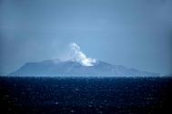 Imagen del volcán, este lunes.