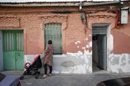 La fachada de la 'casa de Capa', en Peironcely 10, de Madrid.