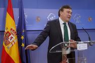 Tomás Guitarte, diputado de Teruel Existe, compareciendo en el Congreso.