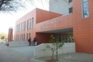 Acceso principal a la sede de la Estación Biológica de Doñana, dependiente del CSIC, en la isla de la Cartuja de Sevilla.