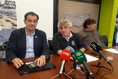 Jesús Marco, Xim Cerdá y Jordi Figuerola, este martes, durante la conferencia de prensa.