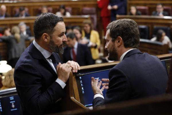 Abascal y Casado, en el Congreso de los Diputados.