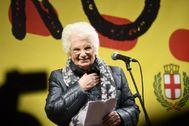 La superviviente del Holocausto y senadora italiana, Liliana Segre.