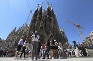 La Sagrada Familia de Barcelona.
