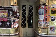 Imagen de una antigua tienda cerrada en la provincia de La Coruña.