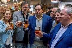 Rajoy, Ana Pastor y el presidente del PP de Castilla-La Mancha, Paco Núñez, en noviembre en Toledo.