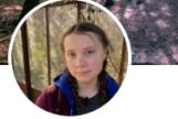 Perfil de Greta Thumberg en el que se puede leer 'Pirralha' ('mocosa' en portugués).