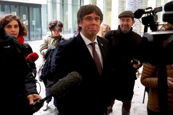 El ex presidente de Cataluña Carles Puigdemont, en una reciente...