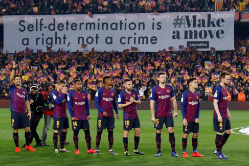 Tsunami Democràtic chantajea al Barcelona a siete días del clásico