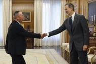 El Rey Felipe recibe al diputado de Compromís Joan Baldoví este martes en la Zarzuela.