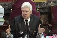El fiscal de Sala Fidel Cadena, durante una de las sesiones del juicio del 1-O.
