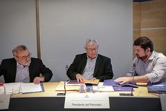 José Vicente González, Joan Ribó y Natxo Costa, en una reunión del patronato de Feria Valencia.