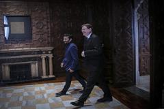 El presidente de la Generalitat, Ximo Puig junto al conseller de Educación, Vicent Marzà.