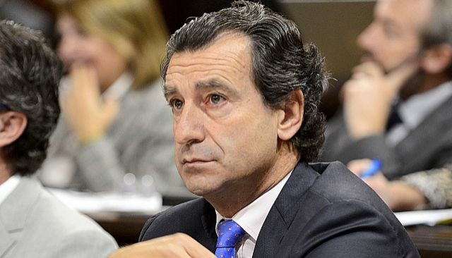 El presidente del PP balear, ayer, en el Parlament. J. SERRA