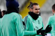 Gareth Bale antes del partido del Real Madrid en Champions League